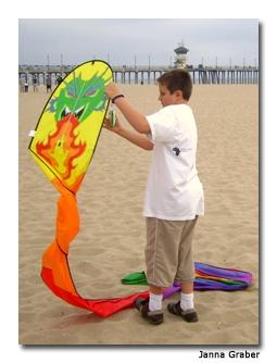 The ocean breezes make kite flying a snap.
